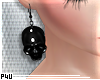 -P- PVC Skull Earr. v.1