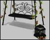 Black Floral Swing