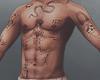 вят. wild snake tatto