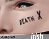 - Face Tattoo - Death X