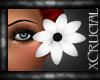  xC  White Hair Flower L