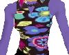 60s style flower vest