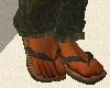 Casual Green Flip Flops