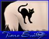 Black Cat Back Tattoo