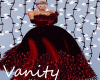 Red Feathered Gown
