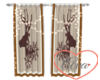 Lighted Drapes Deer