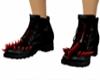 Red Spike Steel Toe Shoe
