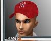 {JB} NY Yankees Red Cap
