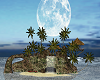 Romantic island moon