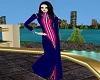 Arabic Blue Abaya Dress