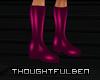 !TB! PVC Dark Pink Boots